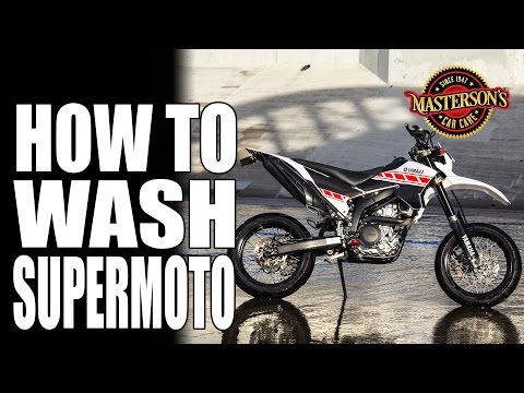 How To Wash Supermoto Dirt Bikes - Masterson's Car Care - Yamaha WR250X