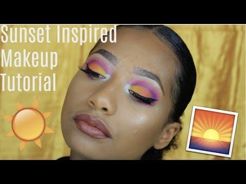 Colorful Sunset Inspired Tutorial  Tatyana Celeste ❤︎