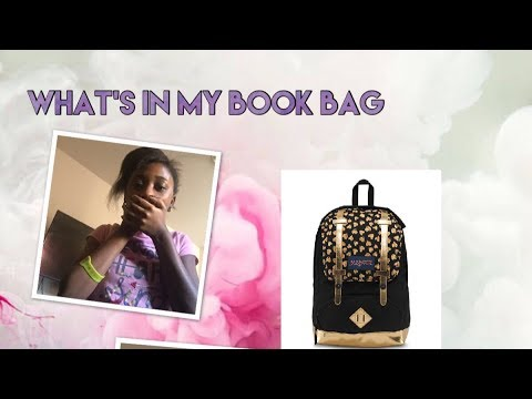 what's in my book bag 😱2018~BeautybyDelores