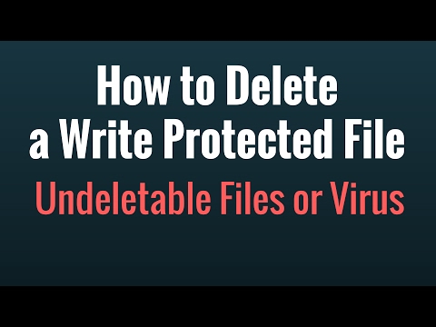 How to Delete a Write Protected File or Undeletable Files or Virus