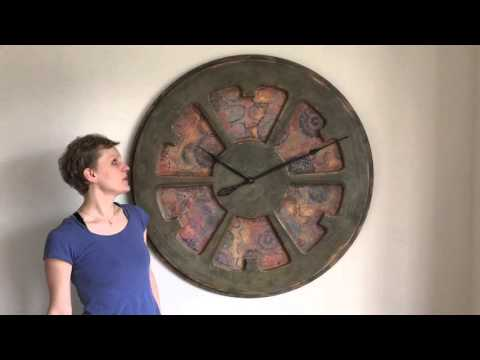 Peak Art - Boho Large Artistic Statement Wall Clock