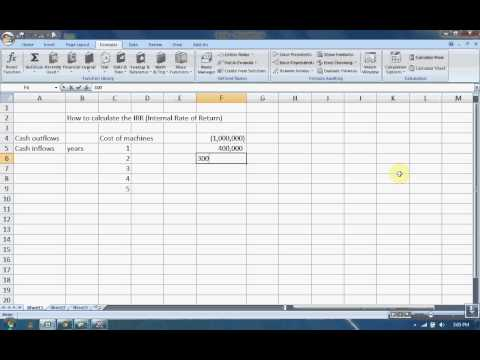IRR using Excel