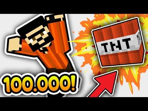 100,000 TNT VS MİNECRAFT RECEP İVEDİK (Minecraft)