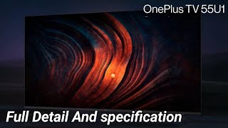 OnePlus TV U Series 55 Inch Full Detail And specification | Price in India Rs . 49,999  | In Tamil |