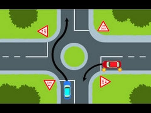NZ Road Code Intersection Questions 1-23