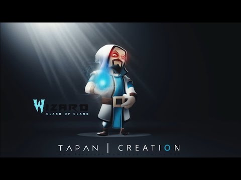 how to create 3D character in photoshop cc  (Clash of clans ( 3D Wizard )