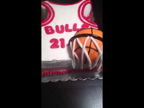 Jersey basketball cake