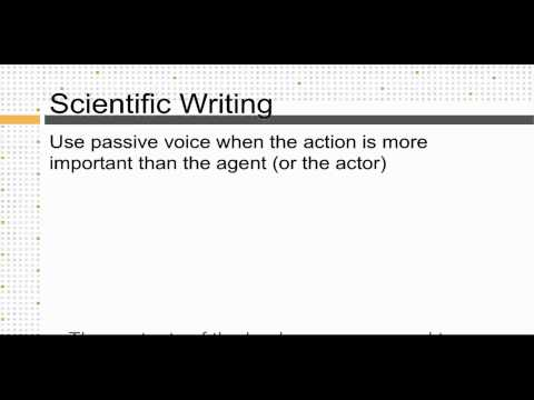 Effectively Using Passive Voice