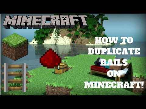 How to duplicate rails in Minecraft! EASY!