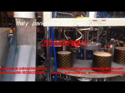 Italy panettone /muffin cup making machine