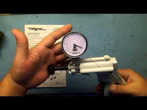 Quick Tip - Vacuum Hand Pump Doubles as a Vacuum Gauge