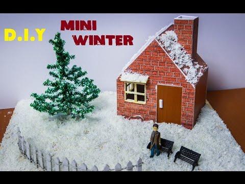 How To Make A Miniature Winter Garden - DIY Christmas