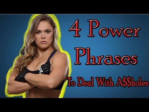 4 Power Phrases - How To Talk To Bullies