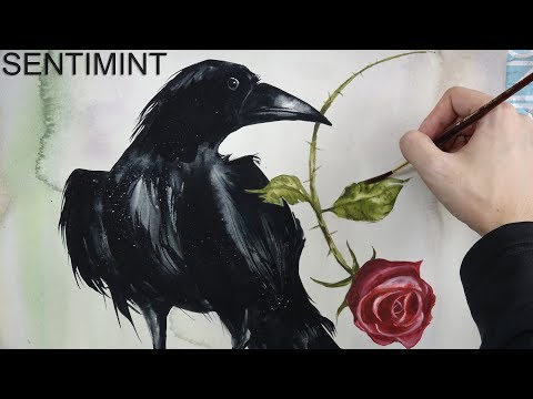 [Watercolor] Raven