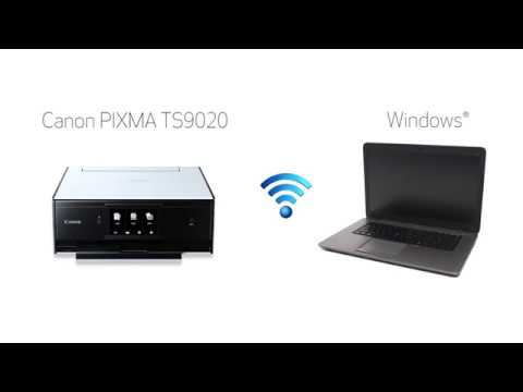 Canon PIXMA TS9020 - Easy Wireless Connect Method with a Window's Computer