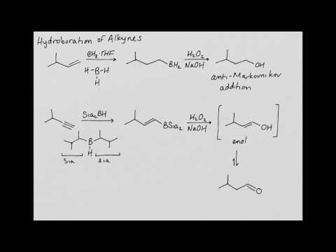 CHEM 222 Reactions of Alkynes: Hydroboration