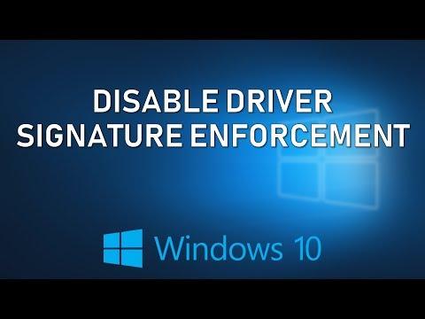 Disable Driver Signature Enforcement in Windows 10