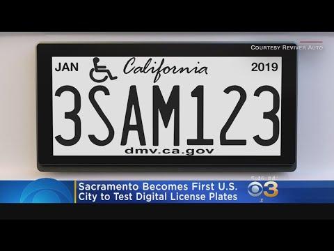 Sacramento Becomes First U.S. City To Test Digital License Plates
