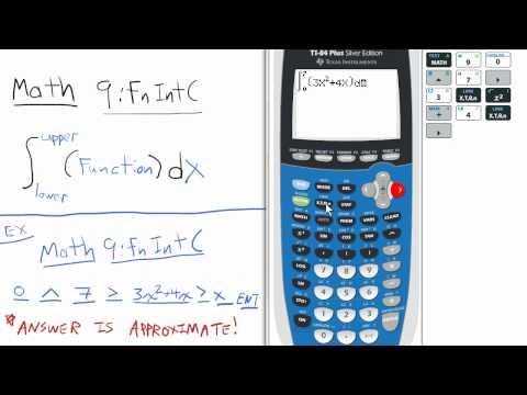 fnInt Definite Integral TI 84 Calculator