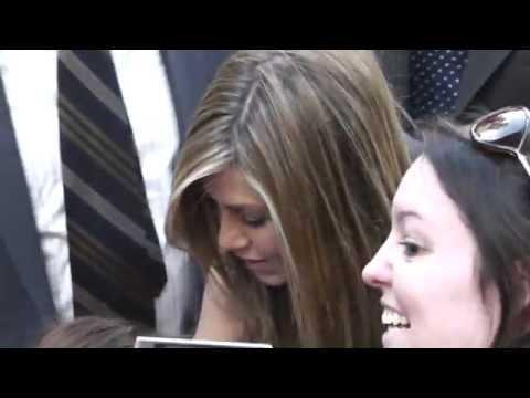 Jennifer Aniston signs autographs for fans