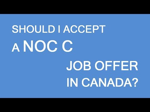 Job offer in Canada with NOC category C. To go or not to go? LP Group