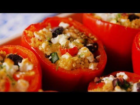 Greek Stuffed Peppers | Delish