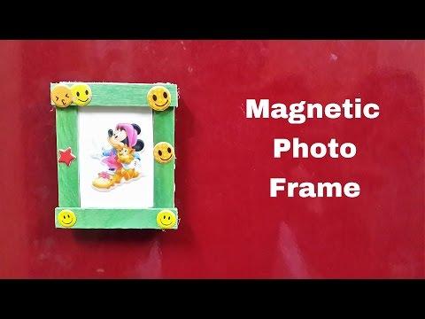 How to Make a DIY Magnetic Photo Frame for Fridge/Refrigerator