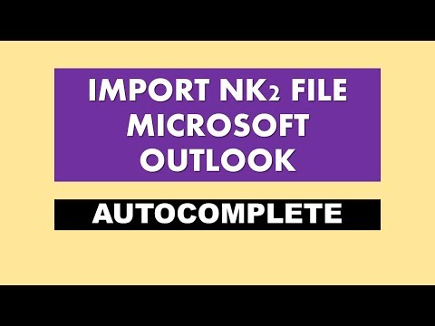 import nk2 file - import nk2 files in Outlook 2010 | Outlook2013 | Outlook2016 - (2018)
