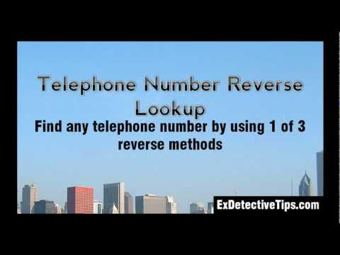 Telephone Number Reverse Lookup - 3 Effective Underground Techniques