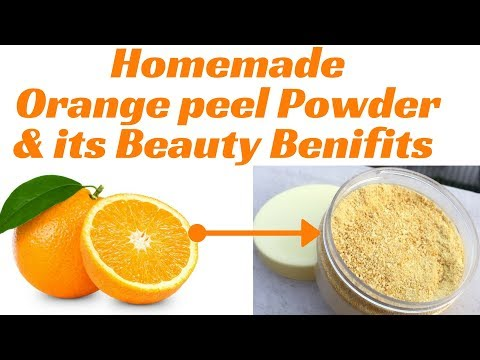 Homemade Orange peel powder in Hindi | Benefits of Orange peel for skin | clean & clear skin | AVNI