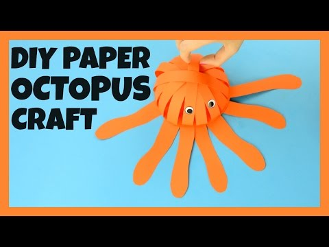How to Make a Paper Octopus - paper craft idea