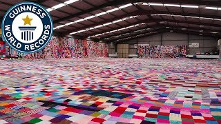 Largest hand knitted blanket - Guinness World Records