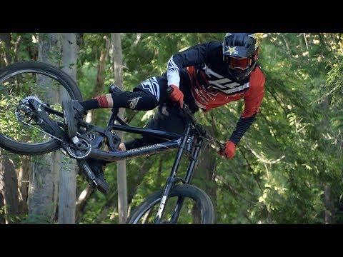 Nelson B.C.'s Machine Built Mountain Bike Trail - Turnstyles Kurt Sorge on Polygon Collosus DH9