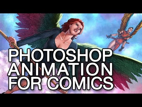 Animation in Photoshop - tutorial for comic book creators part 1