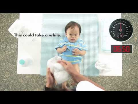 The 6.5-second Challenge -- Changing A Diaper