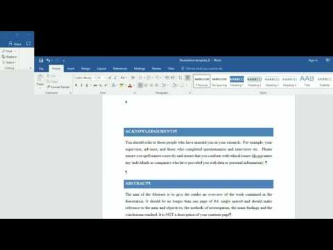 How to insert Roman and Arabic numeral page number in Word 2016