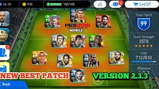 Pes 2018 Mobile Best patch version for 2 3 3 2019 mod