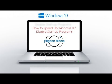 How to Speed Up Windows 10:  Disable Startup Programs!