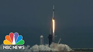 Liftoff! SpaceX Launches First Crewed Mission To International Space Station   NBC News