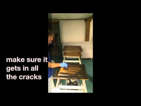 glazing,staining your old honey oak cabinets darker