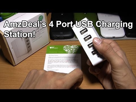 AmzDeal 4 Port USB Charging Station for Android/iPhone!