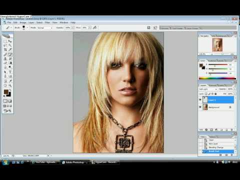 How to Change Hair Colour | Photoshop CS2 | THE EASY WAY!!!