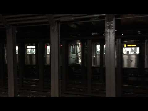 MTA NYC Subway Q & N trains at 8th St/NYU