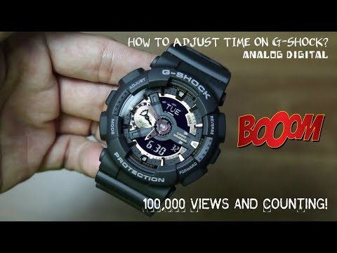 How to adjust time on G Shock (Analog-Digital)!!!