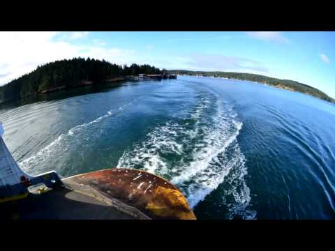 Time-Lapse: WA State Ferry Departing from Shaw Island