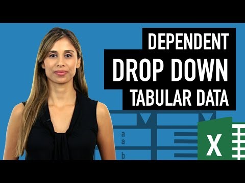 Excel Dependent Drop Down List with Tabular Data without Named Ranges