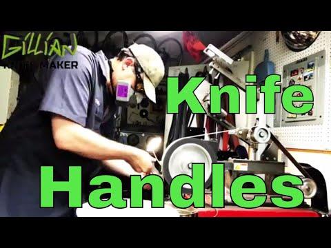 Machining Knife Handles - Custom Made Folding Pocket Knives -  how to make a titanium knife handle