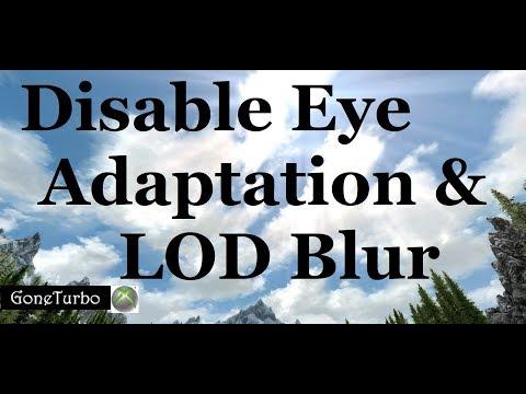 Skyrim SE- Disable Eye Adapt. and LOD blur