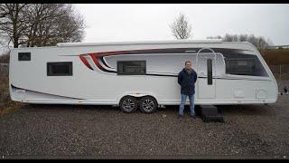 Der LÄNGSTE Wohnwagen der Welt: KABE HACIENDA 1000 TDL E3 DU Wohnwagen 2021. Komplette Roomtour.