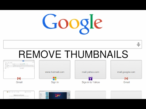 Remove thumbnails from google chrome homepage